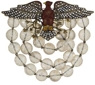 Gucci Crystal-Embellished Eagle Brooch