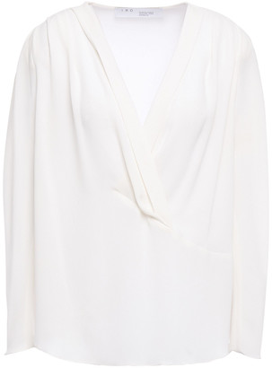 IRO Batcha Wrap-effect Crepe Blouse