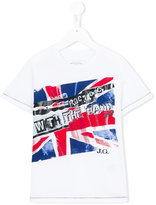 John Galliano flag print T-shirt - kids - Cotton - 4 yrs