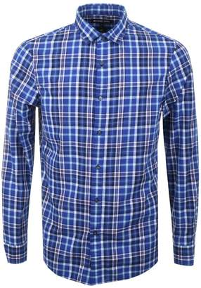 Michael Kors Slim Fit Check Shirt Blue