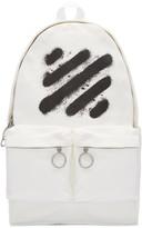 Off-White White Diagonal Spray Backpack