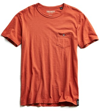 Todd Snyder Made in L.A. Slub Jersey Pocket T-Shirt in Spice