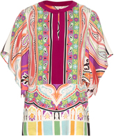 Etro Paisley and floral-print silk-blend blouse