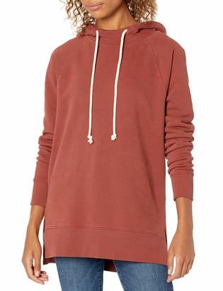 Goodthreads Amazon Brand Women's Heritage Fleece Hooded Tunic