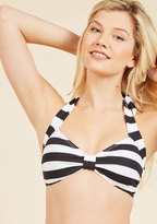 Bathing Beauty Swimsuit Top in Black Stripes in 10