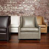 west elm Sweep Leather Armchair