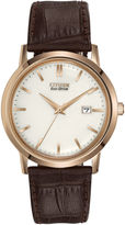 Citizen Eco-Drive Brown Leather Watch BM7193-07B