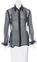 Jean Paul Gaultier Sheer Silk Button-Up
