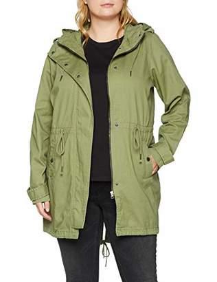 Junarose Women's Jrjaliva Solid Ls Parka Coat - S Ivy Green Wash:Washed), (size: OVERSIZE M)