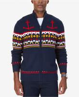 Nautica Men's Anchor Fair Isle Zip-Front Sweater