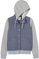 RVCA Juniors Unlabel Fleece Hooded Quilted Puffer Jacket