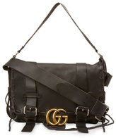 Gucci Logo-detail Leather Messenger Bag