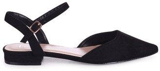 Linzi FLORA - Black Suede Pump With Pointed Toe
