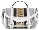 Proenza Schouler Medium Ps1+ Woven Leather & Canvas Satchel - White