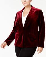 INC International Concepts Plus Size Velvet Blazer, Created for Macy's