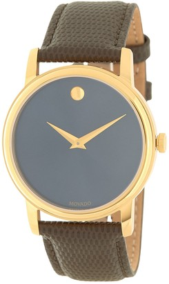 Movado Men's Classic Museum Leather Strap Watch, 39mm