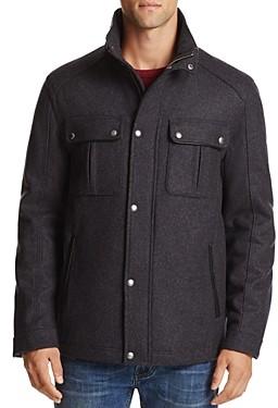 Cole Haan Wool Blend Melton Coat