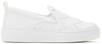 Bottega Veneta White Maxi Intrecciato Slip-On Sneakers
