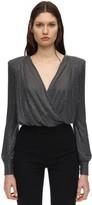 Philipp Plein Crystal Embellished Jersey Bodysuit