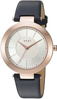 DKNY Women's 'Stanhope' Quartz Stainless Steel and Leather Casual Watch, Color: (Model: NY2576)