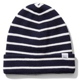 Norse Projects Men's Normandie Stripe Wool Knit Cap - Blue