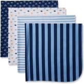 Gerber Baby Boys 4 Pack Flannel Receiving Blanket