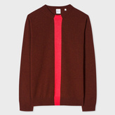 Paul Smith Men's Burgundy Cashmere Sweater With Stripe