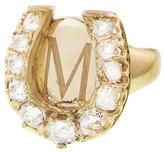 FFR x YLANG 23 Diamond Horseshoe Signet Pinky Ring