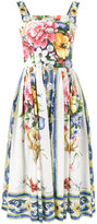 Dolce & Gabbana Majolica print flared dress - women - Cotton - 38