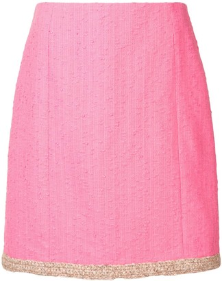 Paule Ka Crochet-Trimmed Mini Skirt