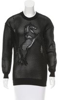 Stella McCartney Horse-Embroidered Mesh Sweatshirt