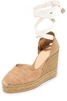 Castaner Washed Canvas Wedge Espadrilles