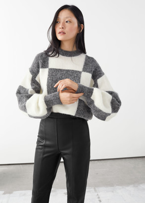 And other stories Alpaca Blend Jacquard Colour Block Jumper