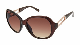 Rocawear Women's R3116 UV Protective Oval Vented Metal Sunglasses   Wear Year-Round   Give as a Gift