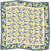 Emilio Pucci Silk Geometric Print Scarf