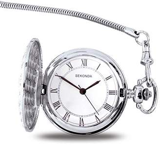Sekonda Men's Quartz Watch with White Dial Analogue Display and White Steel Bracelet 3798.3