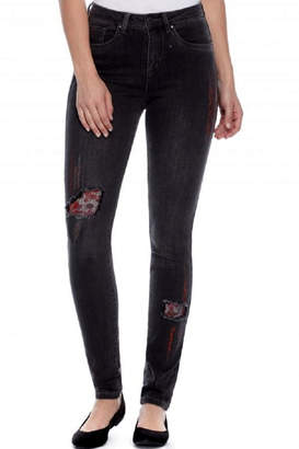 French Dressing Jeans Distressed embroidered Jean