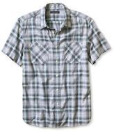 Banana Republic Camden-Fit Gray Check Short-Sleeve Shirt