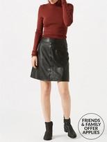 Jigsaw Leather Mini Skirt