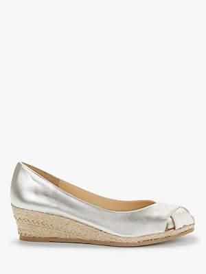 John Lewis & Partners Kallie Wedge Heel Peep Toe Sandals