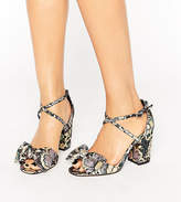 Asos HUNDRED Wide Fit Bow Sandals