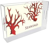 The Well Appointed House Red Coral Personalized Lucite Tray-Available in Two Different Sizes