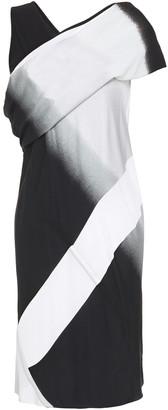 Rick Owens Draped Degrade Cotton-jersey And Crepe Mini Dress