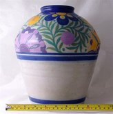 Carter Stabler and Adams c1930 large Poole earthenware vase Audrey Miles