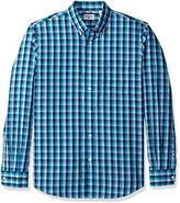 Dockers Long-Sleeve Windowpane Button-Front Shirt with Pocket