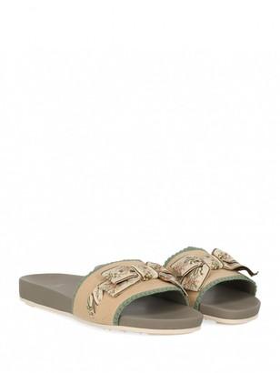 Fendi Beige Cloth Sandals