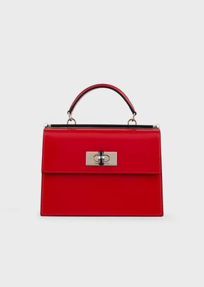 Giorgio Armani Borgonuovo 11 Leather Handbag