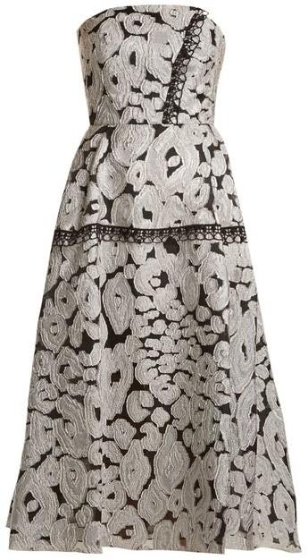 Roland Mouret Lydney Leopard Brocade Dress - Womens - Silver