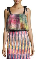 Saloni Jemi Pleated Crop Top, Multicolor