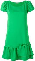P.A.R.O.S.H. asymmetric ruffle shift dress - women - Polyester - L